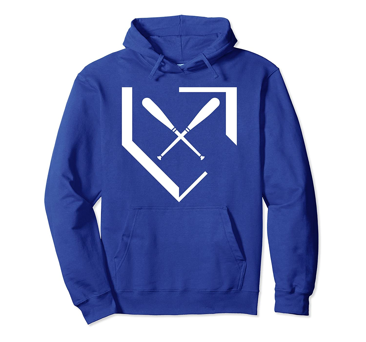 All Baseball, Bats and Homeplate Hoodie-mt