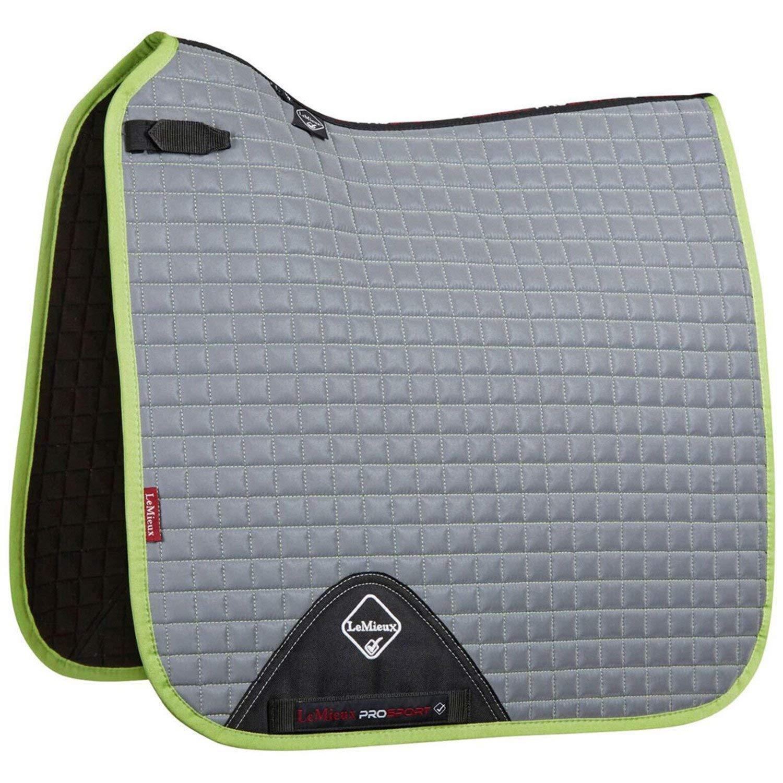 Lemieux High Visibility Dressage Square Saddle Pad Small Medium Grey Lime
