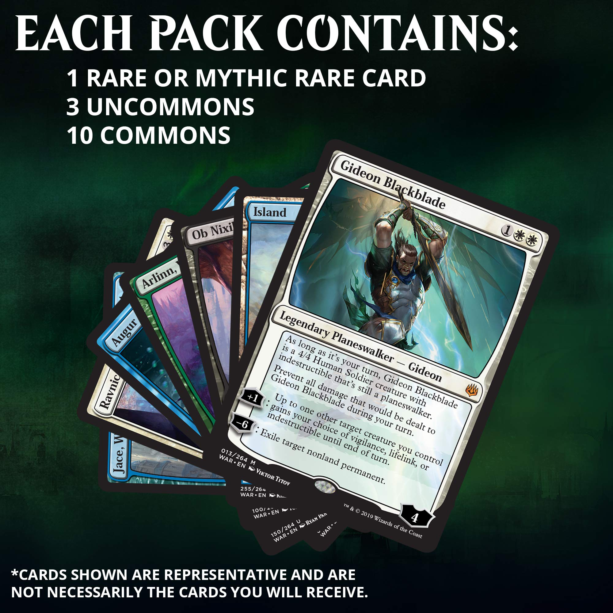 Magic: The Gathering War of The Spark Bundle | 10 Booster Packs | Accessories | Planeswalker in Every Pack by Magic: The Gathering (Image #3)