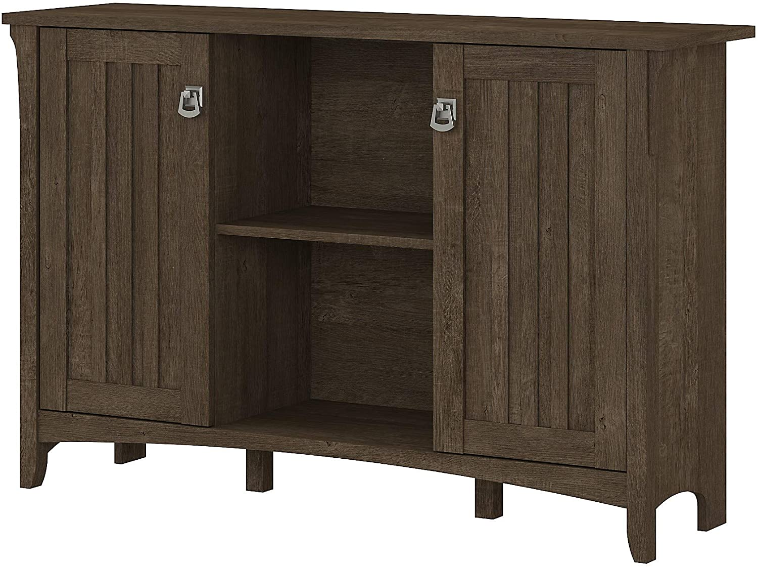 Bush Furniture Salinas Accent Storage Cabinet with Doors in Ash Brown