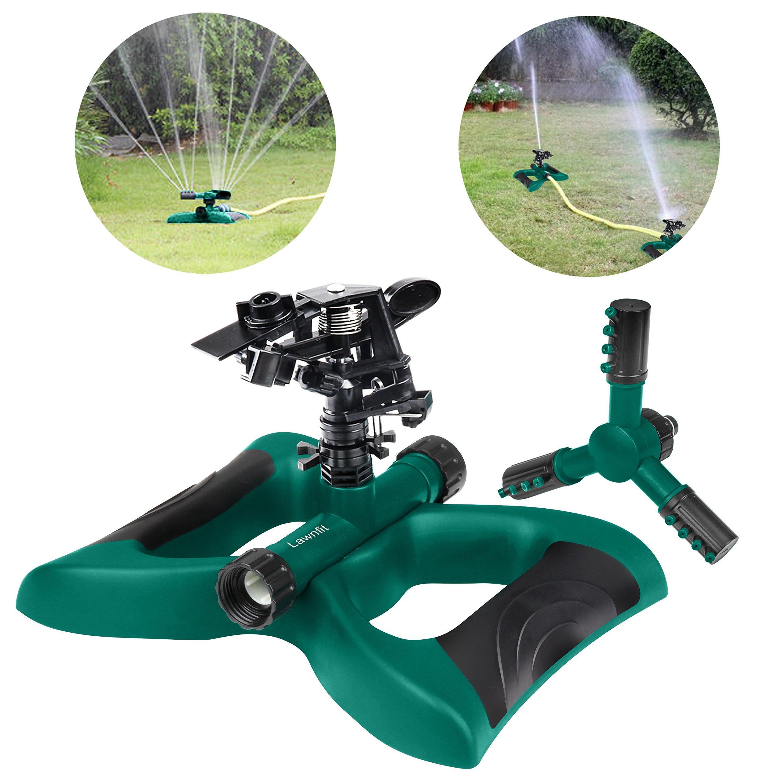 lawnsprinkler impactsprinkler 360degreerotatingsprinklerirrigationsystem Usedforgarden lawn outdoorautomaticsprinkler OscillatingRotaryHighImpactSprinklerSystem Twodifferentsprinkler