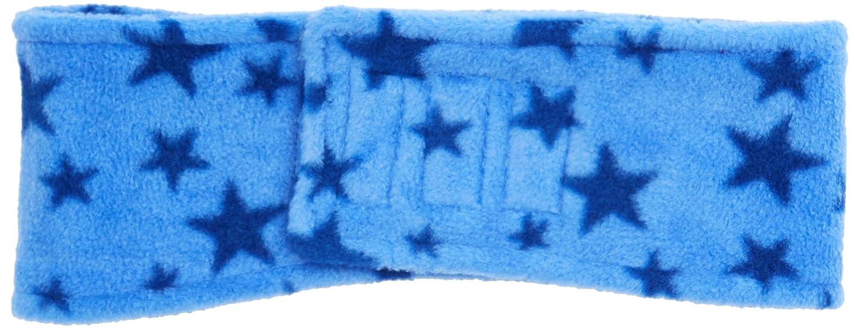 Playshoes Kinder Stirnband aus Fleece Sterne w/ärmendes Accessoire mit Klett-Verschluss one Size blau