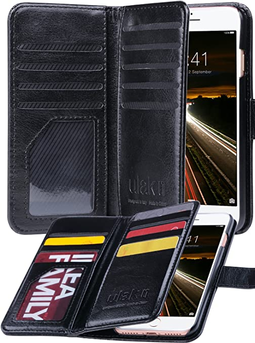 Custodia a portafoglio per iPhone SE 2020 in pelle con scomparto per carte di credito