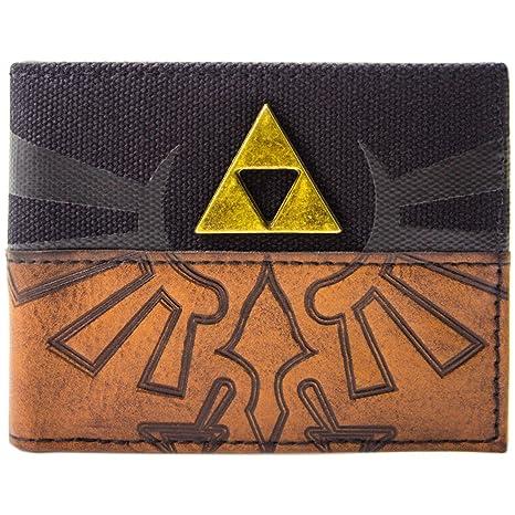 Cartera de Legend of Zelda Insignia retro Trifuerza marrón