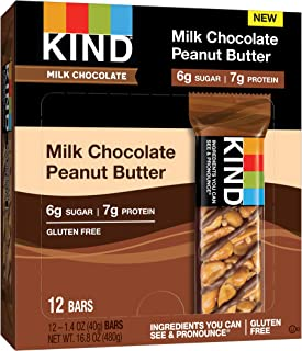 product image for KIND Milk Chocolate Peanut Butter Bars, 6g Sugar|7g Protein, Gluten Free Bars, 1.4 OZ, (12 Count)