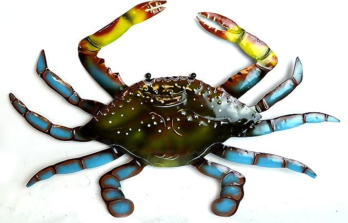 Lg Beautiful Unique Sea Ocean Crab Metal Tropical Island Wall Art Everything Else Amazon Com