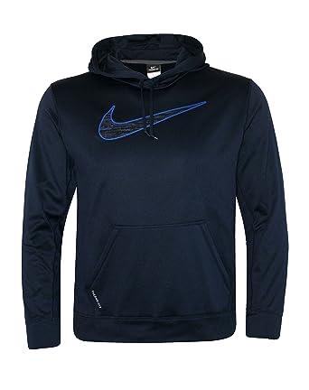 Nike hombre Therma Fit Swoosh - Sudadera con capucha, Azul: Amazon.es: Deportes y aire libre