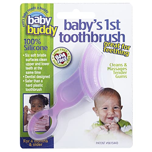 Baby Buddy Pink First Silicone Toothbrush