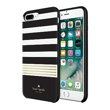 Kate Spade New York Hardshell Case Carcasa para Apple iPhone 7 Plus – Oro/Multi Transparente diseño Brillante | Logo Dorado, Compatible con Apple ...
