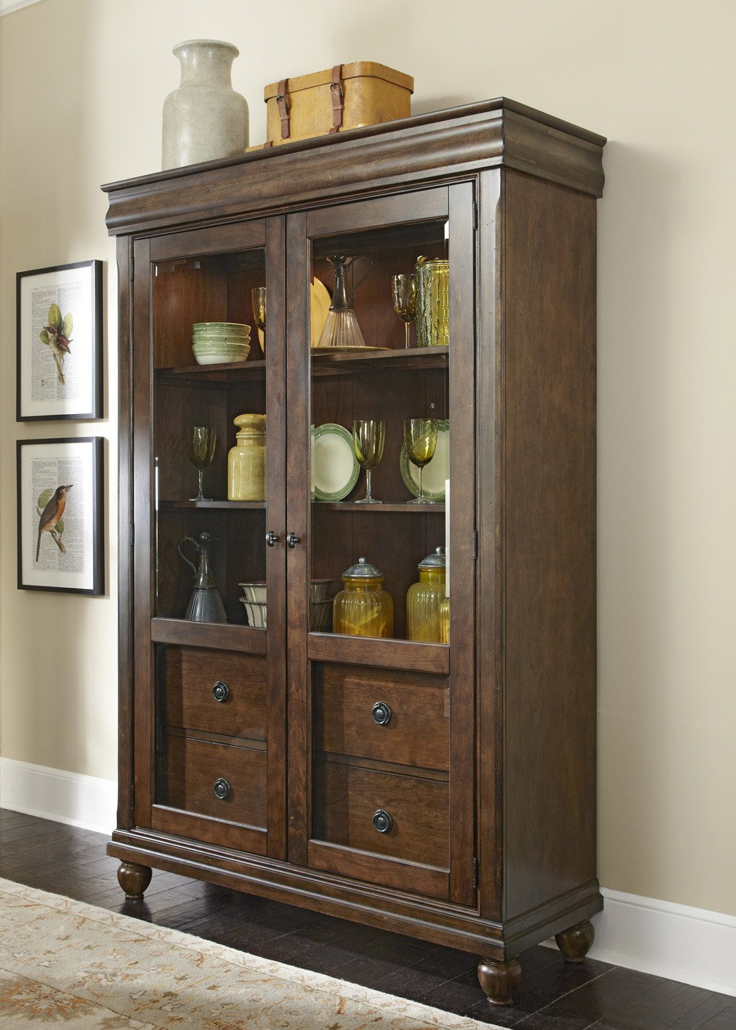 Amazon com liberty furniture industries 589 ch5278 rustic tradition dining display cabinet china cabinets