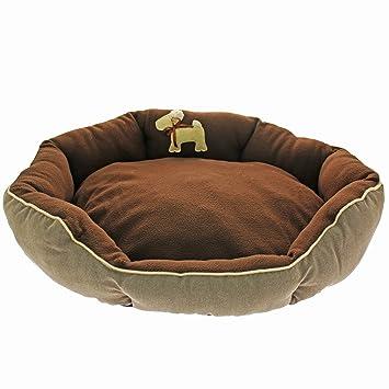 MOOL – Oval cama acolchada para Perros, color marrón oscuro: Amazon.es: Productos para mascotas