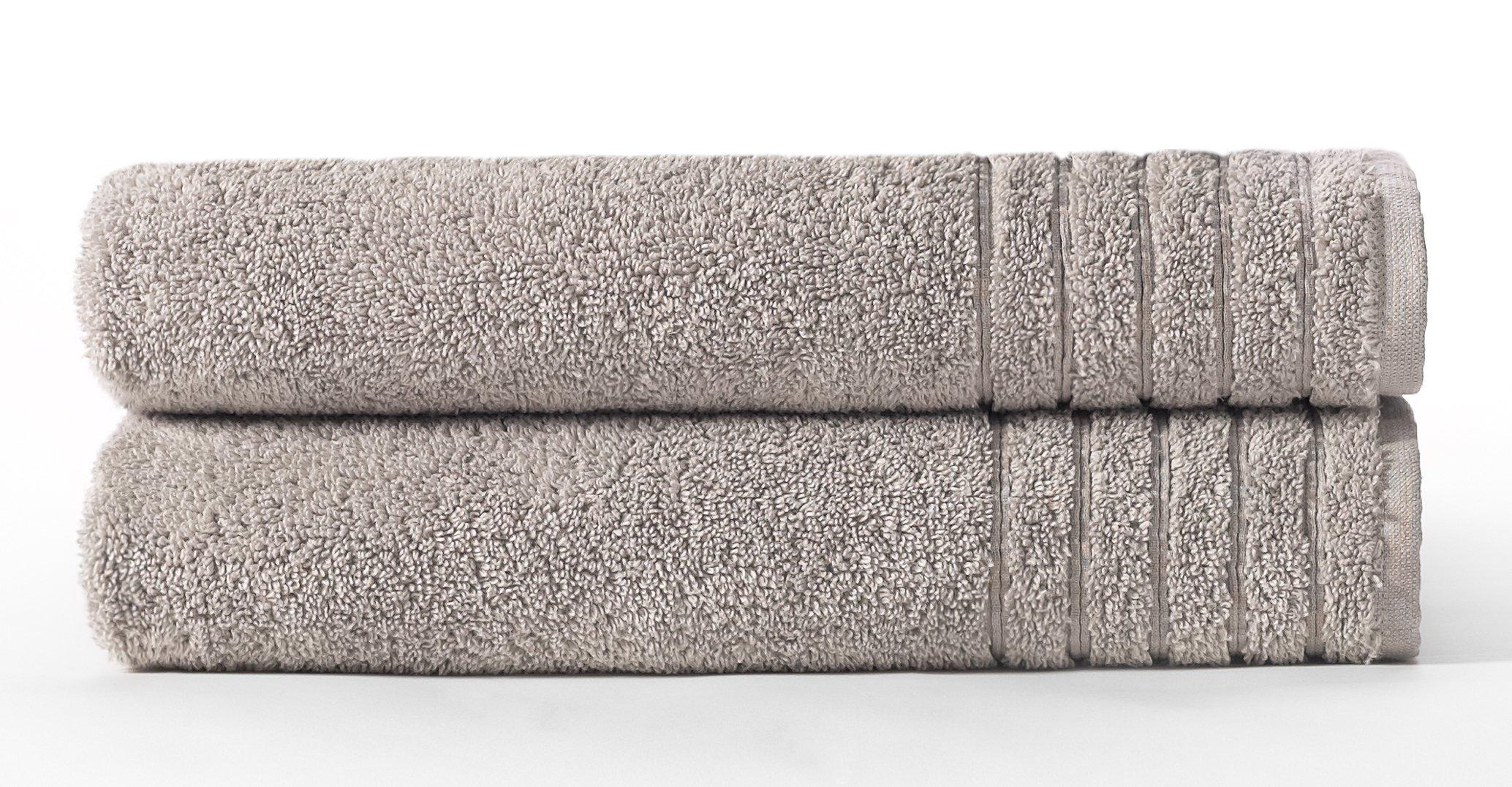 Cotton Craft - Super Zero Twist 2 Piece Oversized Bath Sheet Set 35x70 - Mercury - 7 Star Hotel Collection Beyond Luxury Softer Than A Cloud - 100% Pure Super Zero Twist Cotton