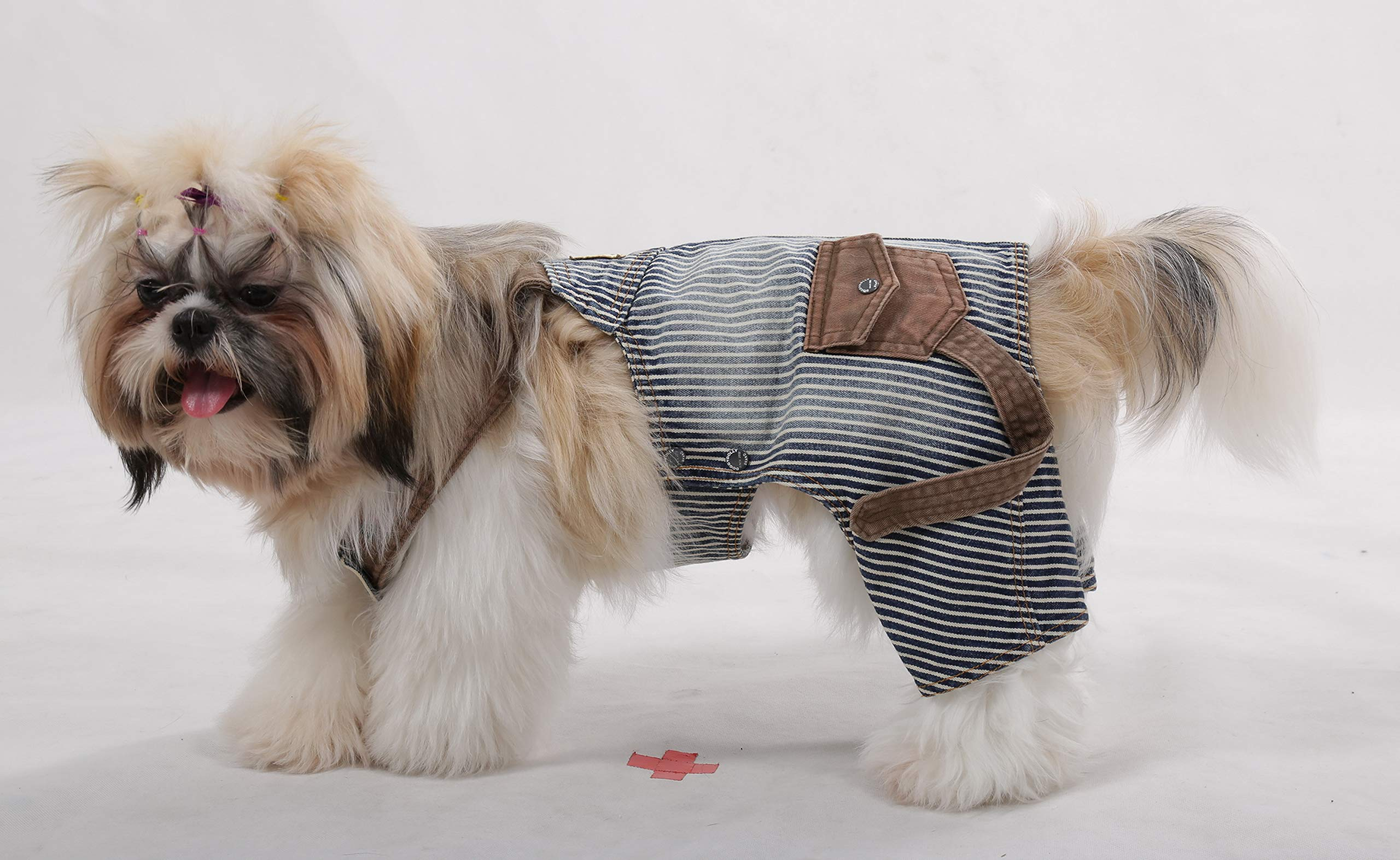 DoggyDolly Authentic Vintage Distressed Denim Overalls, XX-Large by Doggy Dolly