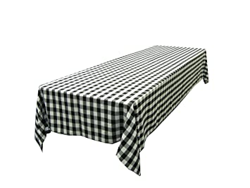 Etonnant LinenTablecloth 60 X 102 Inch Rectangular Tablecloth Black U0026 White Checker