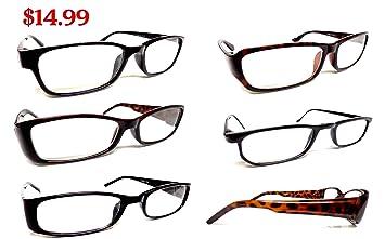 e8f70765ea New Reading Glasses 6 Pairs Dark   Black Frames lightweight Readers Assorted  Styles For Men