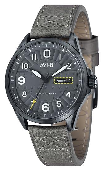 Avi de 8 Unisex Reloj de pulsera analógico cuarzo piel Hawker Harrier II - AV de 4045 - 03: Amazon.es: Relojes