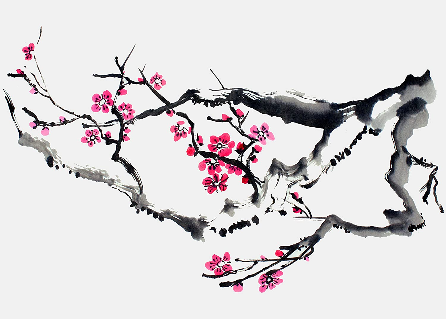 Butterflies Spring Celebration II Floral Tree Wall Picture 8x10 Art Print