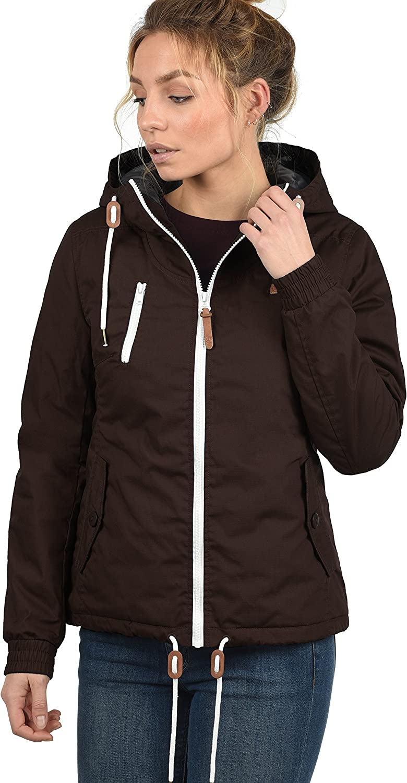 DESIRES Tilda Damen /Übergangsjacke leichte Jacke mit Kapuze