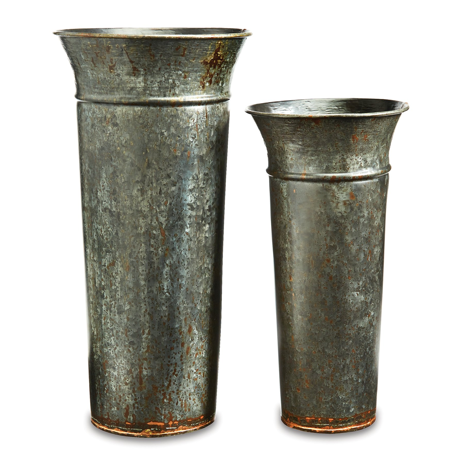 Mud Pie Galvanized Tin Umbrella Stand Set