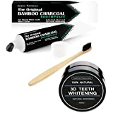 Teeth Whitening System Bamboo Toothpaste Bamboo Toothbrush Charcoal Powder Teeth Whitening