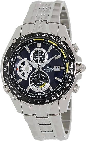 15986b3fca50 CASIO 19709 EF-543D-2AV - Reloj Caballero cuarzo brazalete metálico dial  negro  Casio  Amazon.es  Relojes