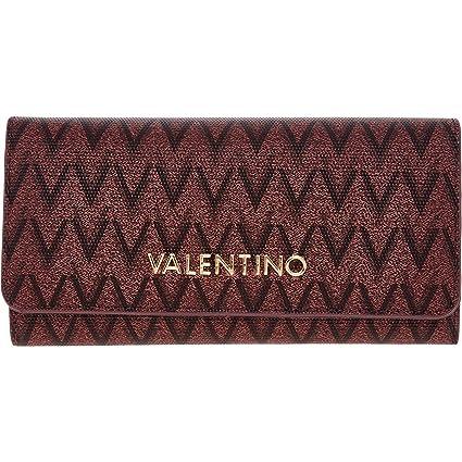 Valentino - Cartera para mujer Mujer rojo vino Large-H: 10.5 ...