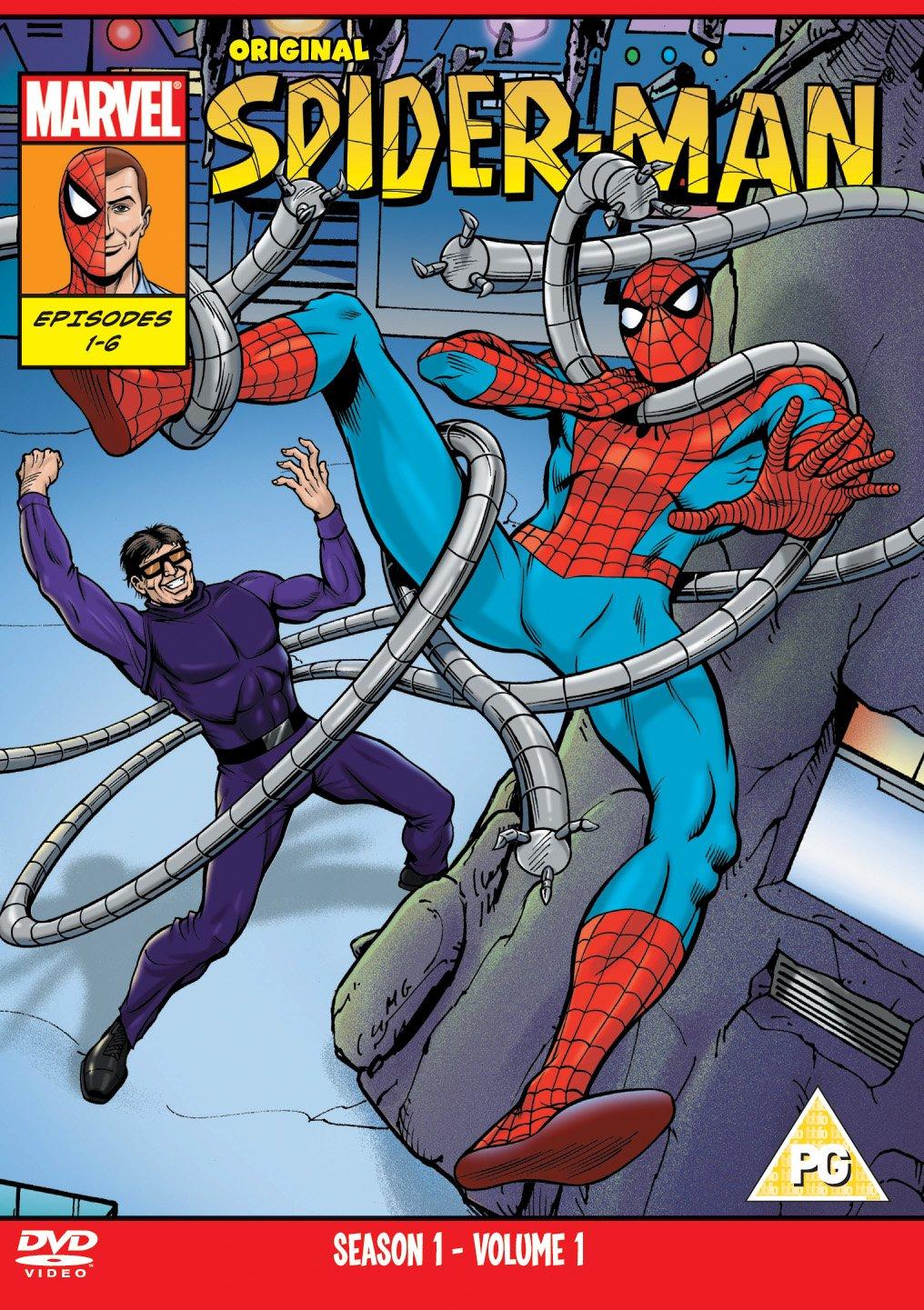 original spider man season 1 volume 1 dvd amazon co uk dvd