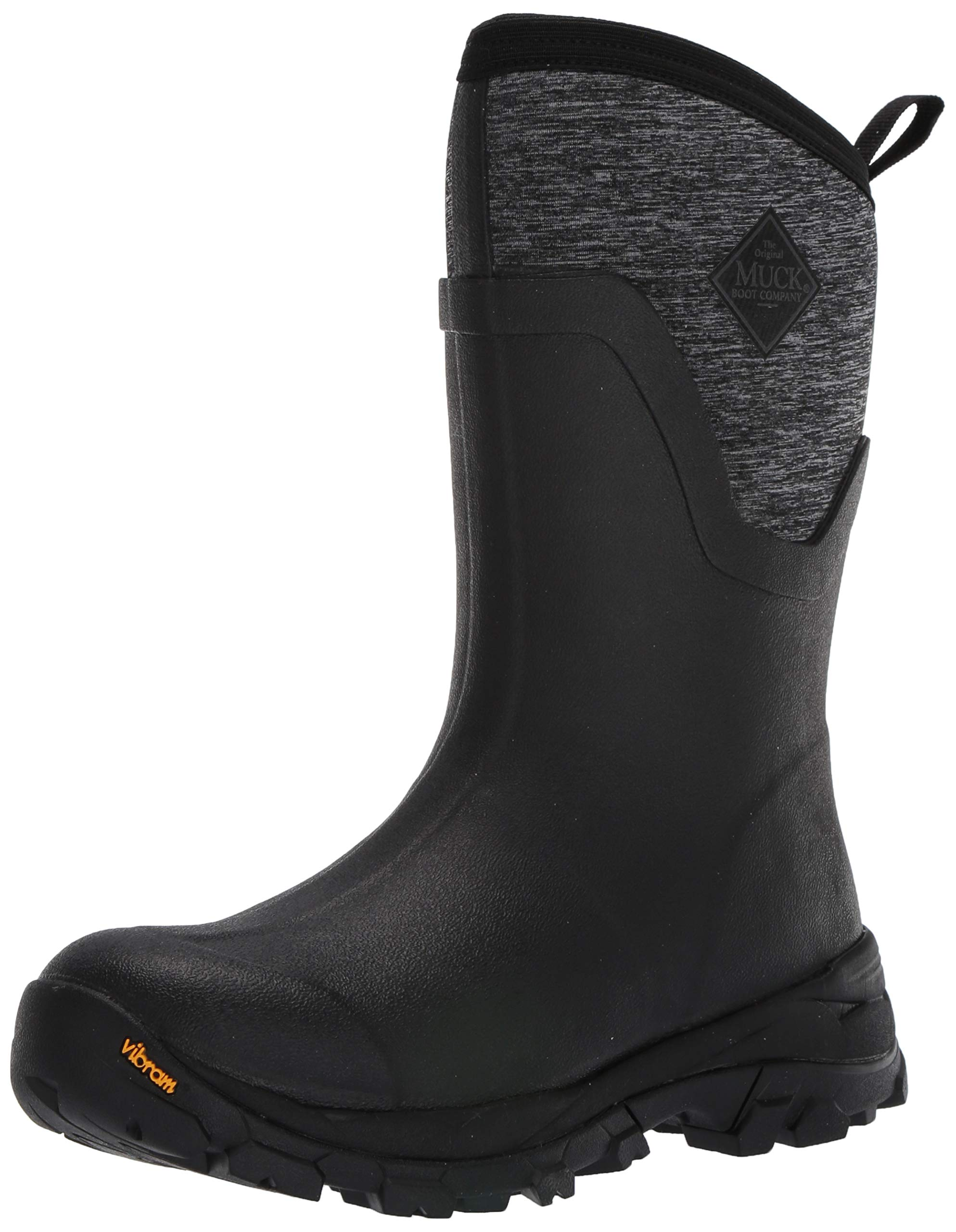 Muck Boot Women's Arctic Ice Mid Snow Boot, Black/Heather Jersey, 8 Regular US by Muck Boot