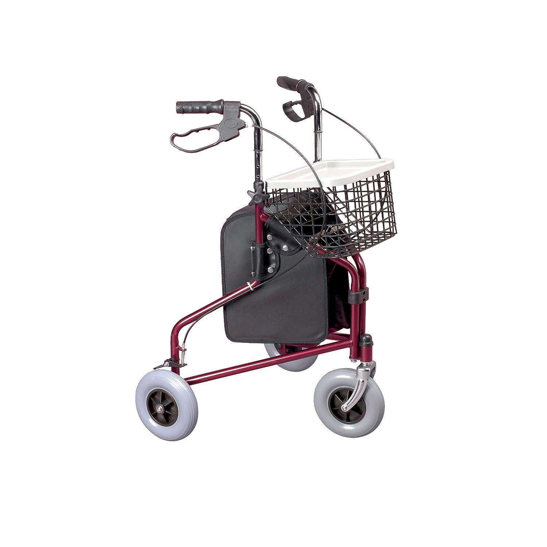 Homecraft - Andador con frenos y 3 ruedas, color rojo: Amazon.es ...