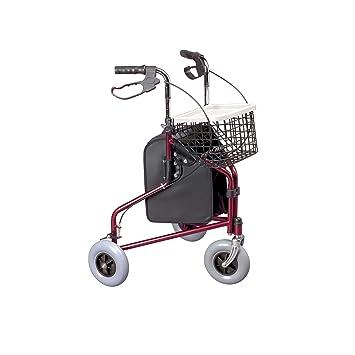 Homecraft Rollator mit 3 Rädern und Bremse, Rubinrot: Amazon.de ...
