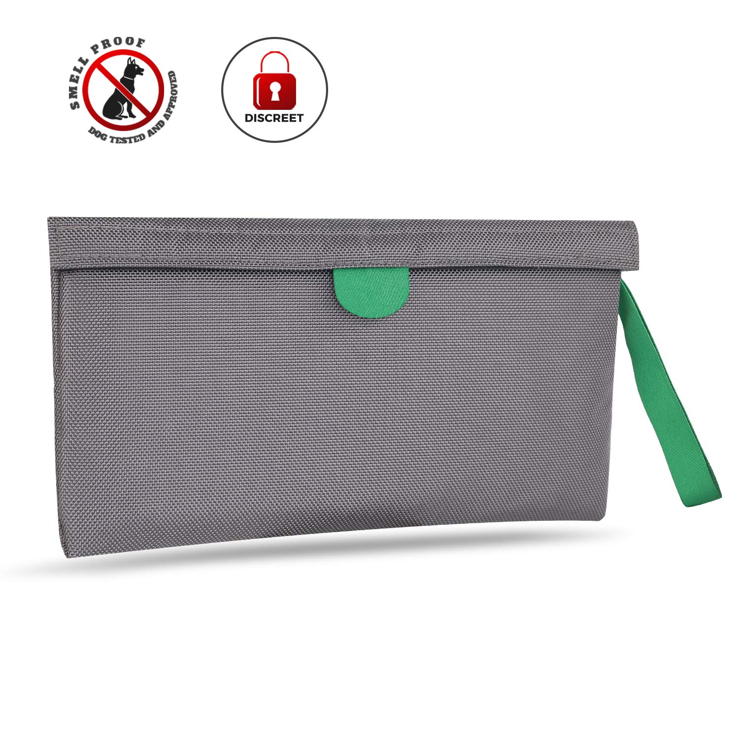 MEIZHI Smell Proof Bag Grey Plant Germination Bag 11x6for Herbs, Spices, Tea, Anything with Strong Odor, Activated Carbon Lining, Odor Absorbing, Water Resistant Grey smell proof bag
