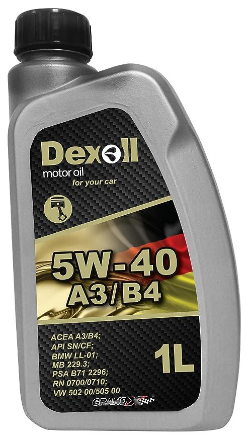 Dexoll aceite de motor para coches 5W-40 para gasolina y motor diésel (1