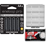 Panasonic eneloop Pro (8) AA 2550mAh Pre-Charged NiMH Rechargeable Batteries with Battery Case + Kit