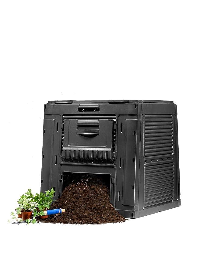 Keter - Compostador e-composter con capacidad de 470 L, Color gris oscuro: Amazon.es: Jardín