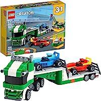 31113 LEGO® Creator 3em1 Transportador de Carros de Corrida; Kit de construção (328 peças)
