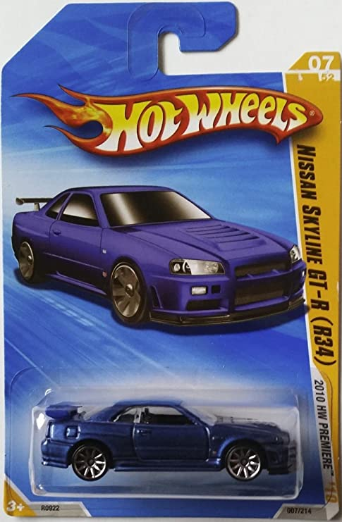 Hot Wheels 2010 New Models Series 07 44 Blue Nissan Skyline Gt R R34 Die Cast