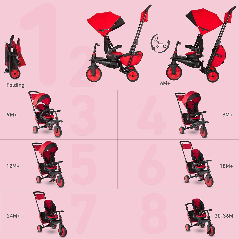 5502202 STR7 STR7J-Triciclo para ni/ños smarTrike Color rojo