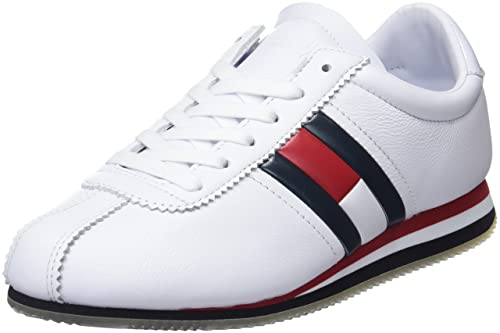 Jeans Sneaker City Hilfiger Bianco shoes Denim Amazon Y7yb6gf