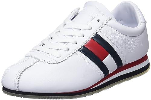 4d6e9017f2e6 Tommy Jeans Women s s Retro Flag Sneaker Low-Top  Amazon.co.uk ...