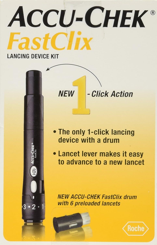 Fastclix Accu-Chek Fastclix Lancing Device Kit, Black: Health & Personal Care