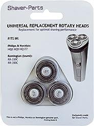 Shaver Parts - Testa di ricambio per Philips HQ8, HQ9, HQ177 e Remington RR-330C, RR-350C nero