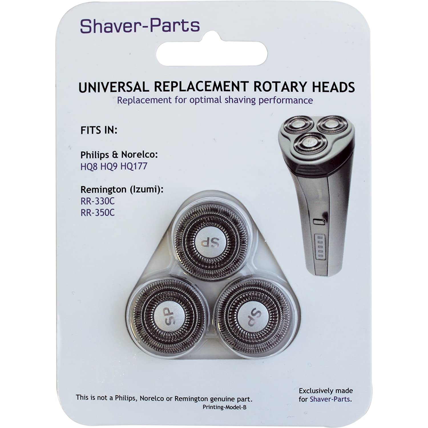 Norelco's compatible Shaving Heads SH30, HQ57, HQ8 (HQ177), Alternative (Fits) for Norelco (Philips) Shavers Shaver-Parts HQ 8