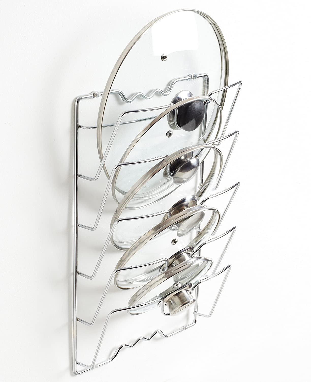 5/couvercles NEO/® Porte de Placard Mural casseroles Po/êle Couvercle de Support de Stockage/ /Capacit/é