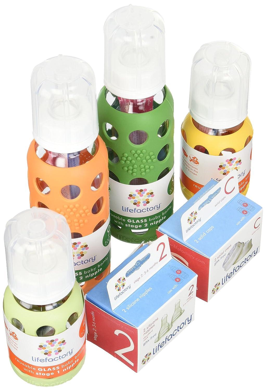 高い品質 Lifefactory B00BCTY5EK Lifefactory Glass Baby Bottles 4 Starter Kit (9 oz. & 4 oz. - Gender Neutral) by Lifefactory B00BCTY5EK, 賑わいマーケット:e4edc03f --- a0267596.xsph.ru