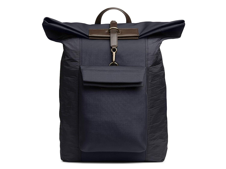 (ミスモ) Mismo Men`s ESCAPE Backpack - 自転車バックパック NAVY & MOONLIGHT BLUE メンズスプリンターバックパック - カモジャカード (並行輸入品) One Size NAVY & MOONLIGHT BLUE/DARK BROWN B07H2FZBQC