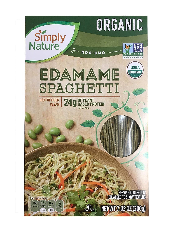 Simply Nature Organic Edamame Spaghetti Gluten Free Vegan, Pack of 2