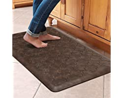 """WiseLife Kitchen Mat Cushioned Anti Fatigue Floor Mat,17.3""""x28"""", Thick Non Slip Waterproof Kitchen Rugs and Mats,Heavy Duty F"""