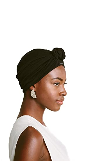 Grace Eleyae Knot Turban, Satin-Lined Hair Care Headwear [Day & Night]