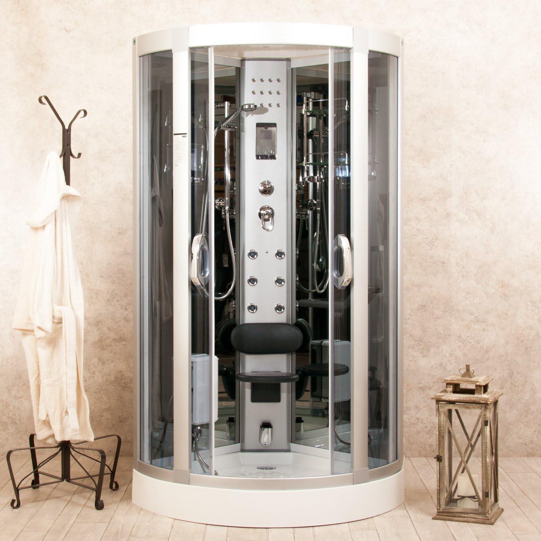 Little Eden - Cabina de ducha, hidromasaje, multifunción, 80 x 80 ...