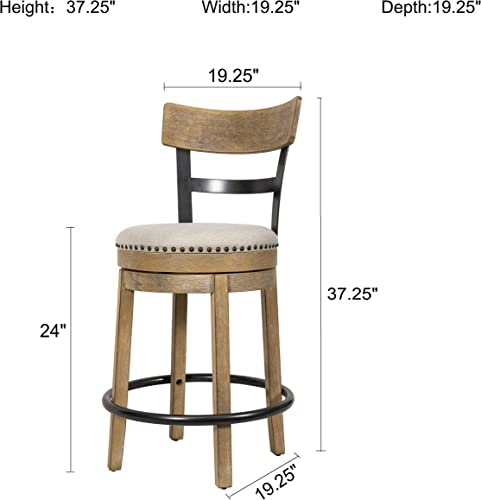 Ball Cast swivel counter height stool